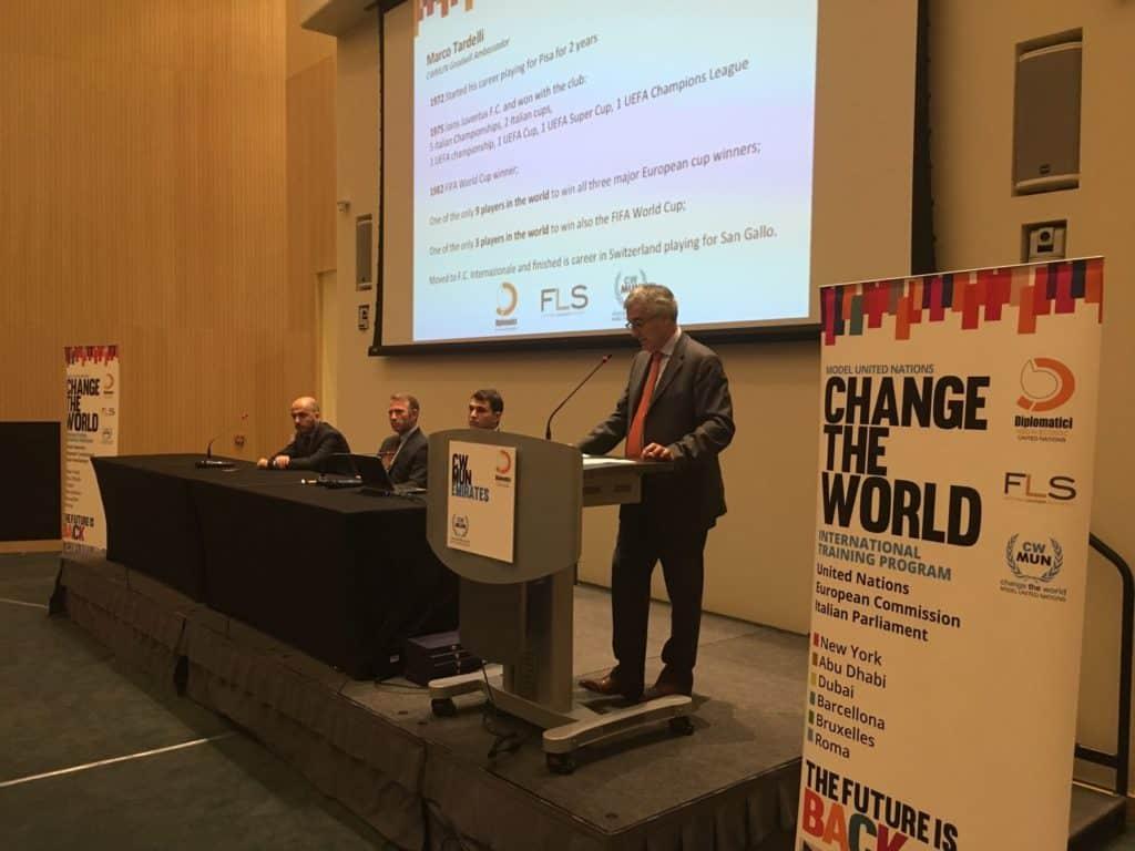 S.E. l'ambasciatore Liborio Stellino inaugura la terza edizione del CWMUN Emirates