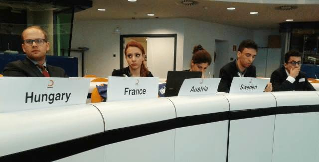 simulazione delle istituzioni europee